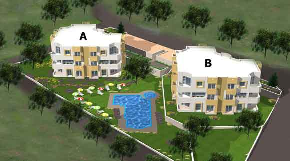 Odek properties quality villas and apartments in turkey for Apartment site plan
